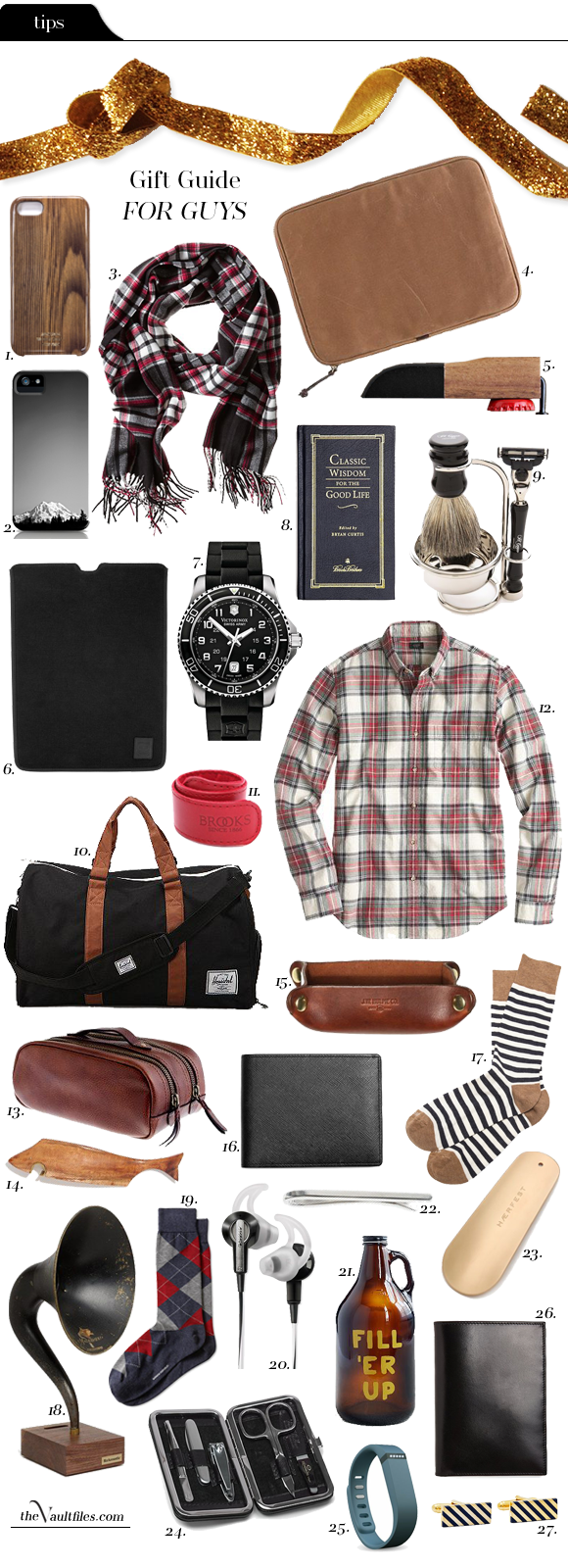 Tips File: Holiday Gift Guide - For the Guys | THE VAULT FILES