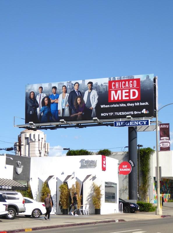 Chicago Med NBC series billboard