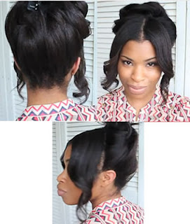 50s updo hair style for girls