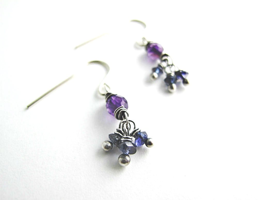 Scheherazade One of a Kind Earrings by Beth Hemmila of Hint Jewelry