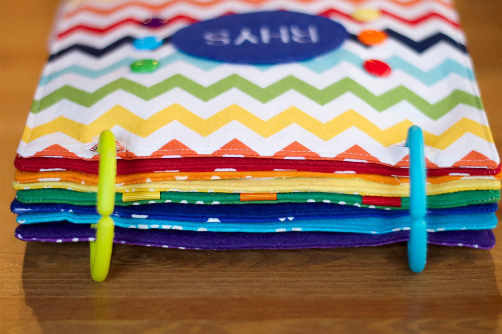 How To Make A Rainbow Book Cover : Rainbow quiet book