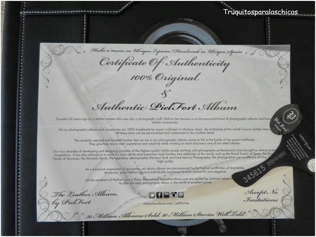 certificado Piel fort