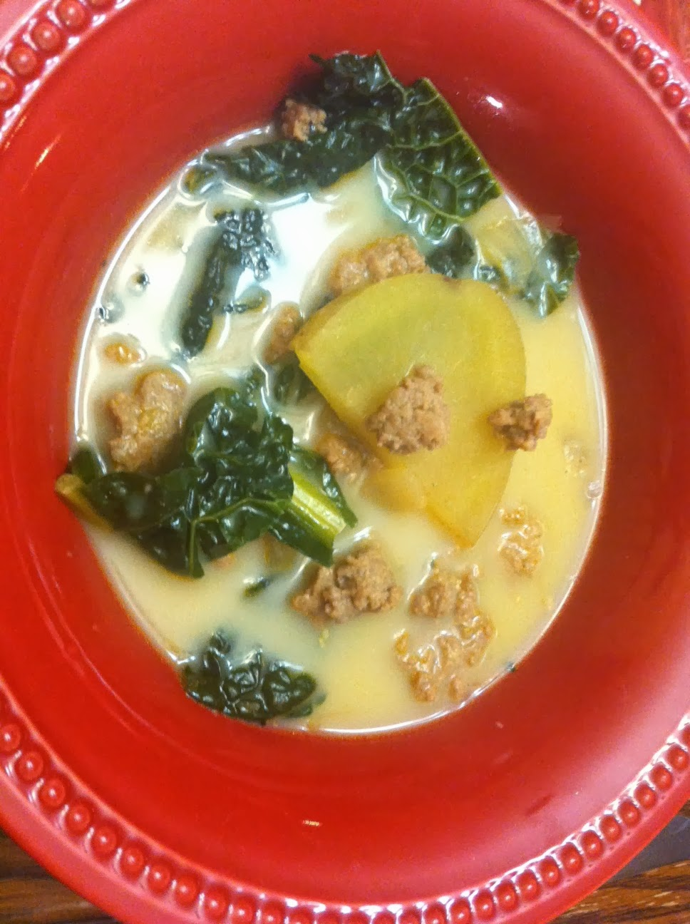 Point Less Meals Spicy Sausage Potato And Kale Soup
