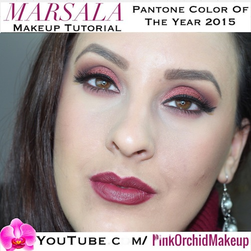Marsala! Pantone Color Of The Year 2015 Makeup Look