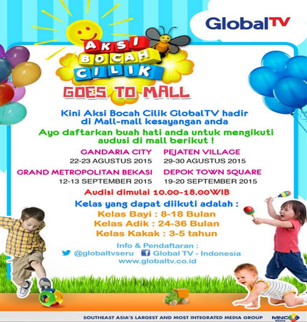 Audisi Aksi Bocah Cilik Global TV Goes to Mall