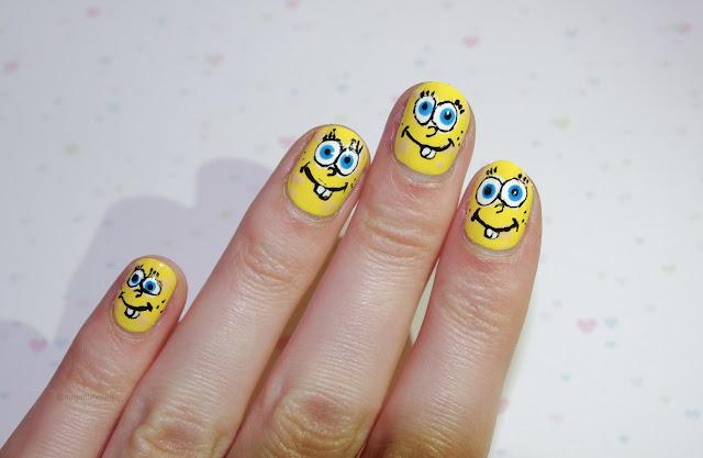 spongebob squarepaints nails