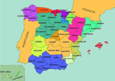 mapa provincias espna