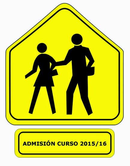 Admisión colegios curso 2015/2016