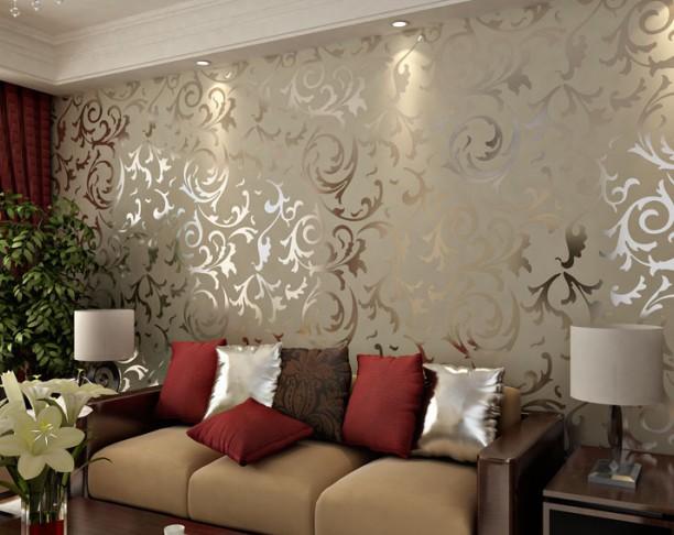 Sala Pequena Com Tecido Na Parede ~  na sala, eu sinceramente acho que a decoração dessas paredes é