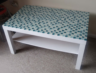 craftypainter: up-cycled Ikea coffee table, mosaic tiled