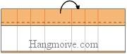 Bước 10: Gấp cạnh giấy ra mặt đằng sau tạo thành góc vuông