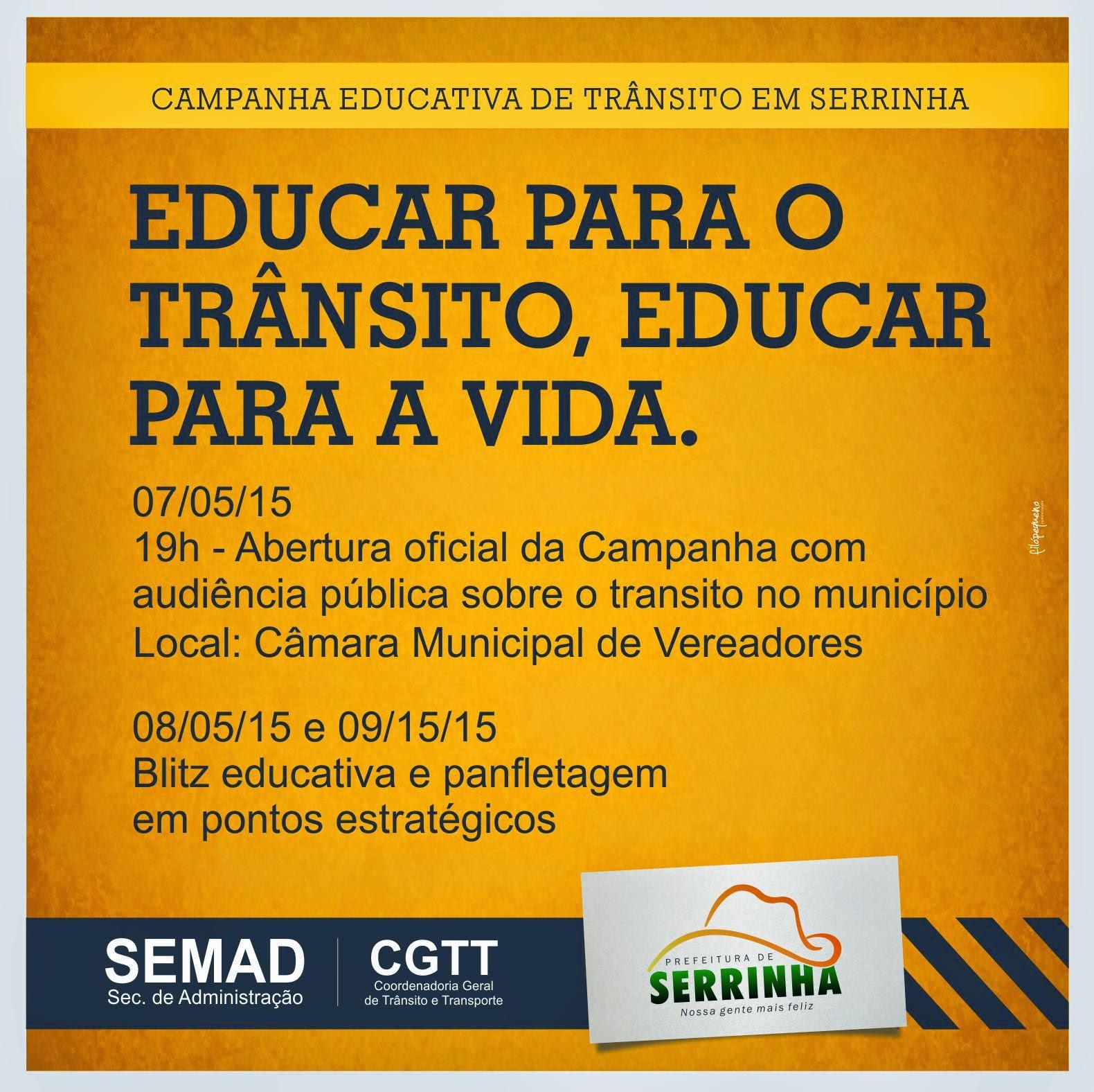 Prefeitura municipal de Serrinha comunica