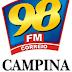 Rádio: Ouvir a Rádio 98 FM 98,1 da Cidade de Campina Grande - Online ao Vivo