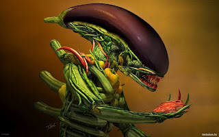 Vegetables alien humor wallpapers