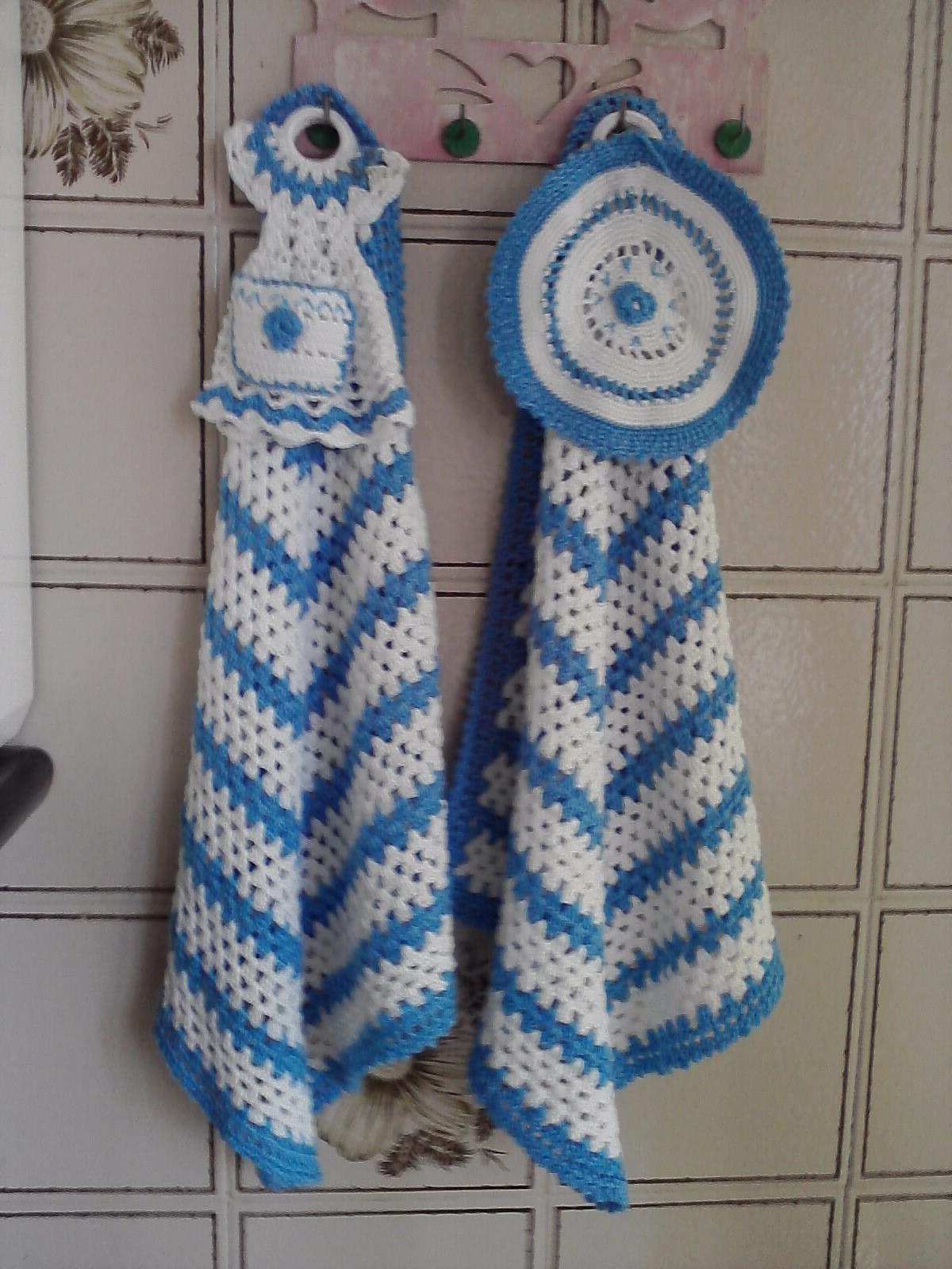 Vistoso Patrón Paño De Cocina Doble Crochet Embellecimiento - Ideas ...