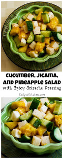 Cucumber, Jicama, and Pineapple Salad Recipe with Spicy Sriracha Dressing (Vegan, Gluten-Free) [from KalynsKitchen.com]