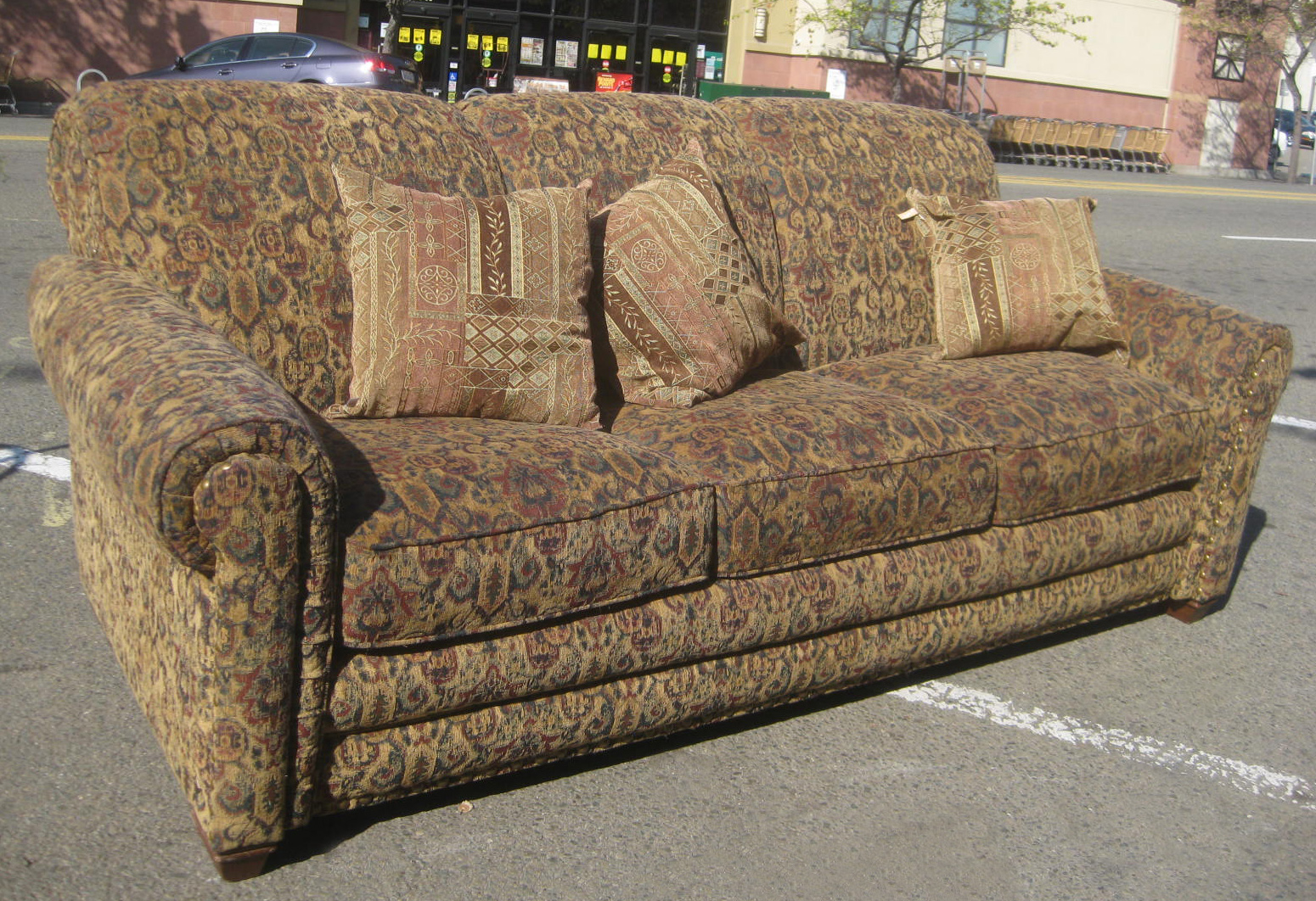 uhuru furniture collectibles sold tapestry sofa