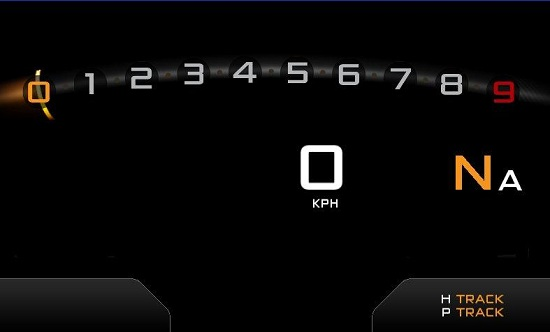 McLaren P1 digital dash screenshot