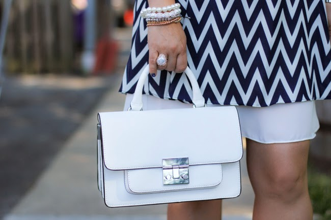 zara white structured purse
