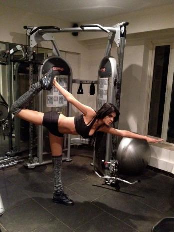 sherlyn chopra workout unseen latest photos