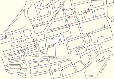 Gijón, Modernismo, plano de situación