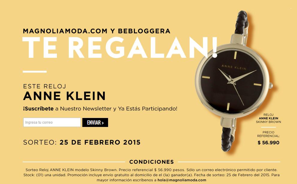 concurso-magnolia-moda-chile-reloj-anne-klein-beblogera