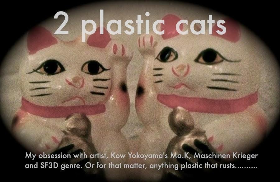2 plastic cats luvs Maschinen Krieger