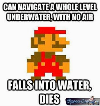 funny Mario water picture