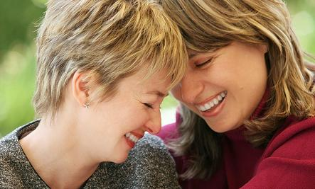 True Story of Unconventional Wabi Sabi Love - two women laughing