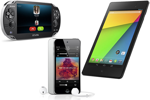 Nexus 7 vs PS Vita vs iPod Touch 5G - Best Gift Christmas 2014