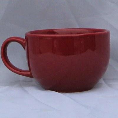 Burgundy Cappuccino Mug