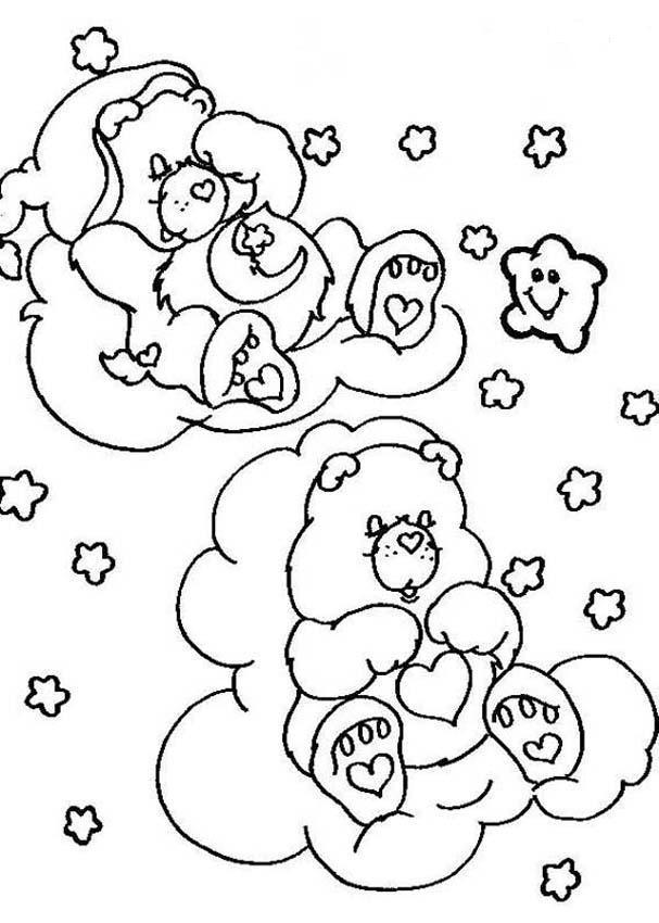 Bebe Durmiendo en Nube Dibujo Dibujo de Ositos en Las Nubes