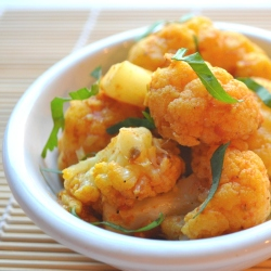 indian spice cauliflower