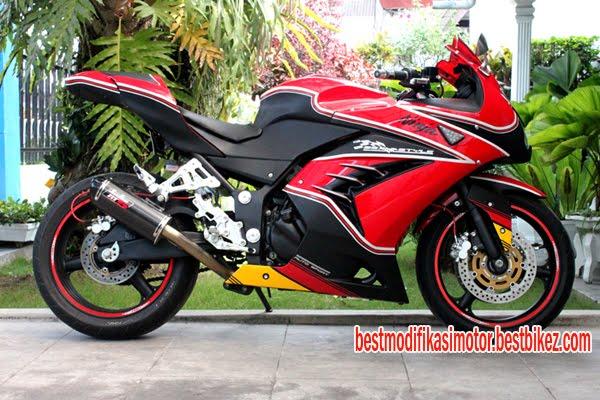 Modifikasi Kawasaki Ninja 250 Merah - Gambar Modifikasi Motor Terbaru