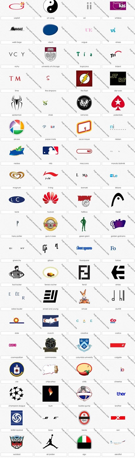 Logo Quiz Answers Level 12