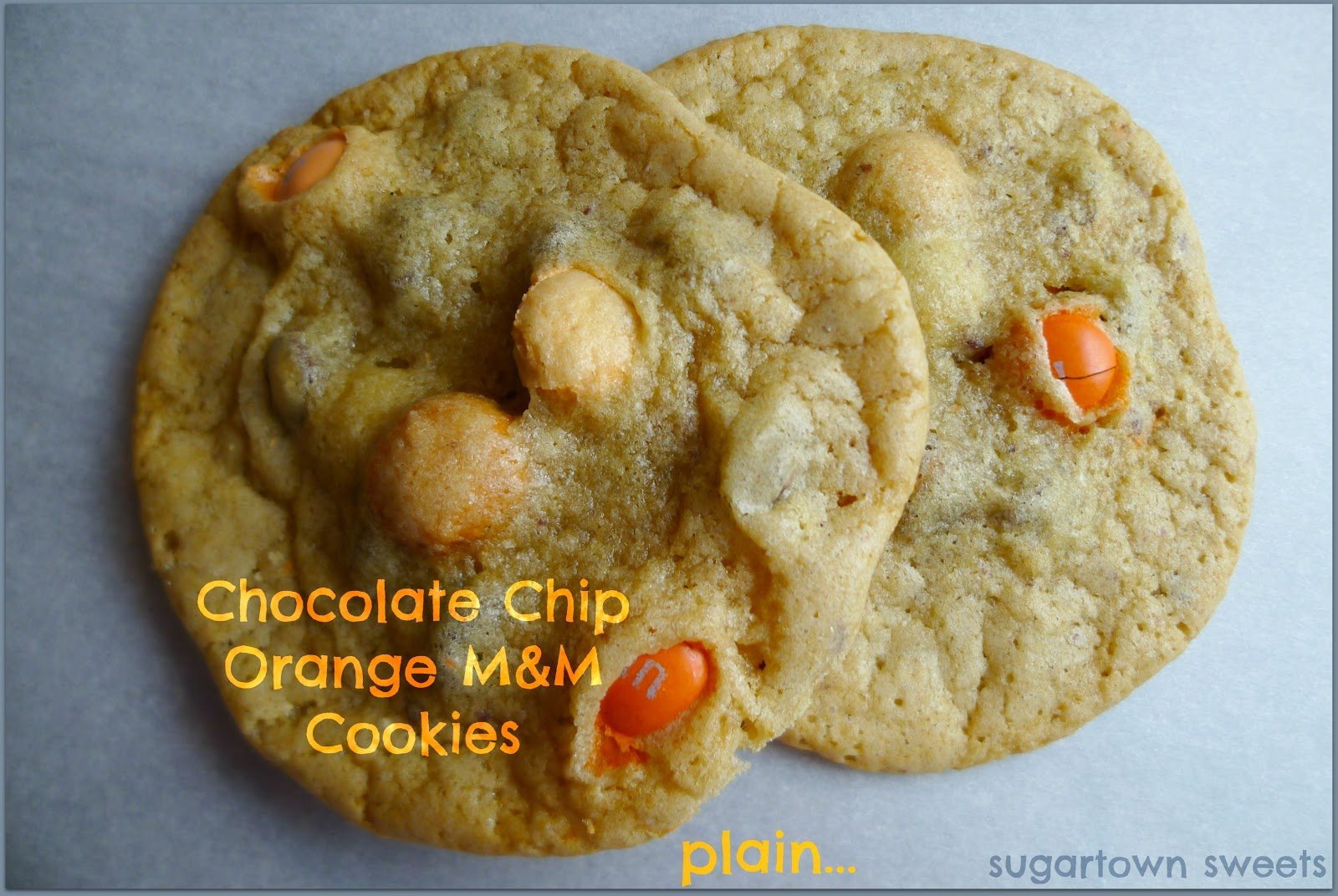 ... Sweets: Chocolate Chip Orange M&M Cookies Dipped In Chocolate