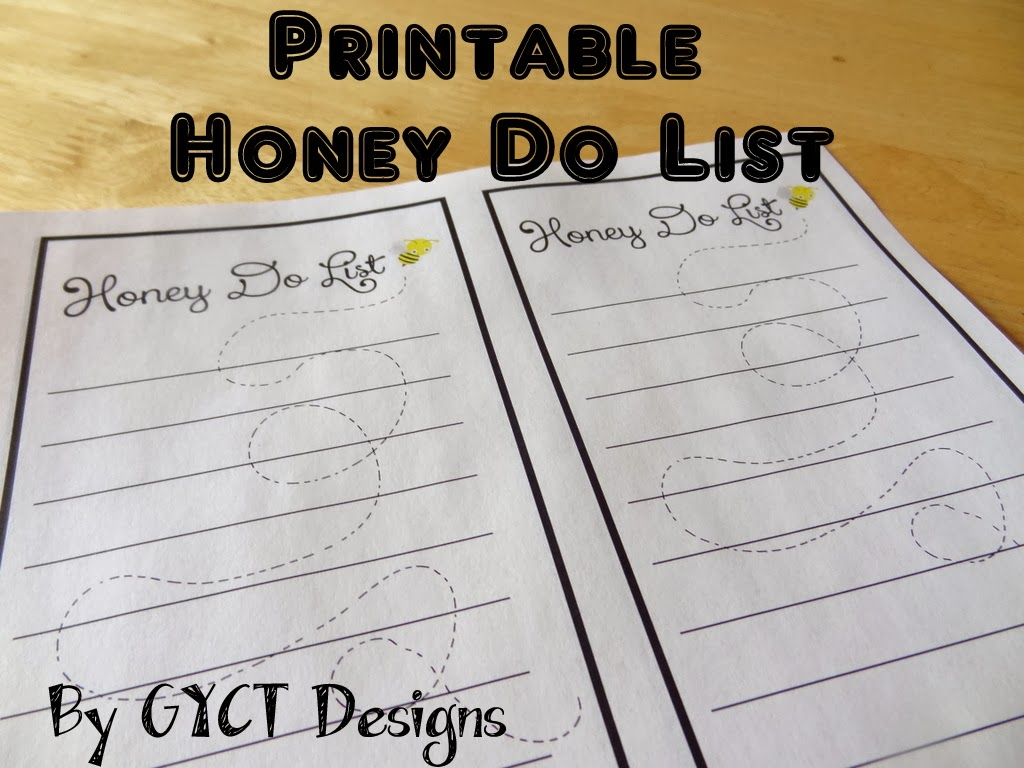 printable honey do list