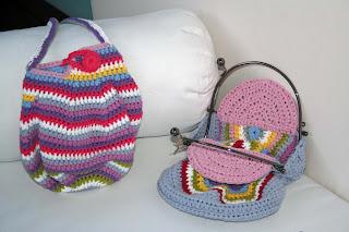 bolsos algodón y metal