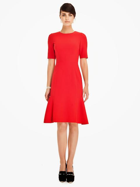 yarım kol kırmızı peplum elbise