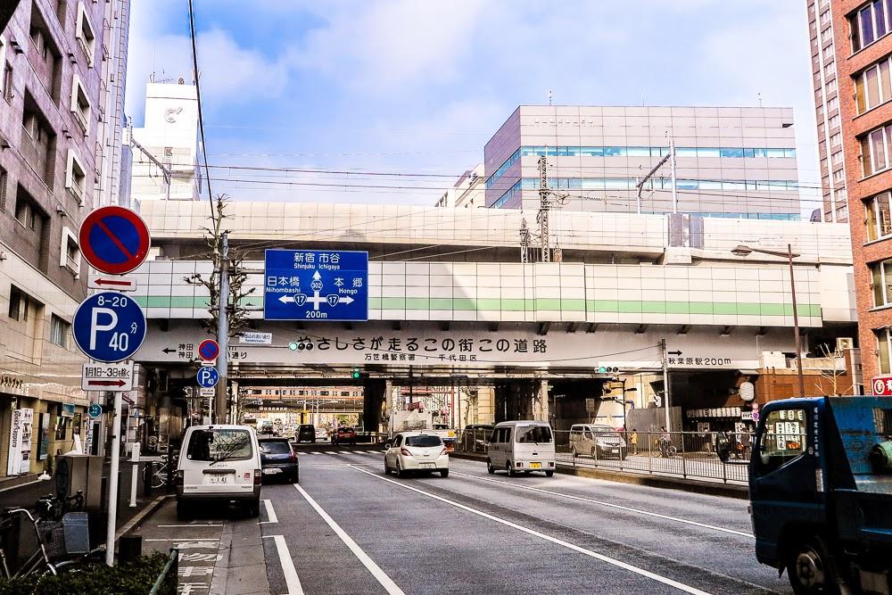 Ueno Tokyo Line track over Yasukuni-dori, Tokyo.