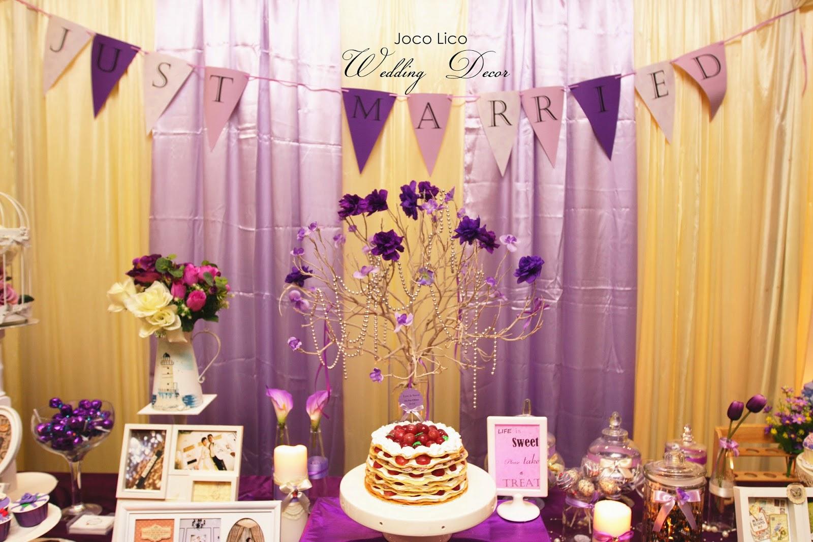 Joco lico handmade event decor purple theme wedding decor 4112014 purple theme wedding decor 4112014 junglespirit Gallery