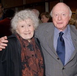 Norman Lloyd and Peggy Craven