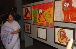 Mamata Banerjee at her own art exhibition