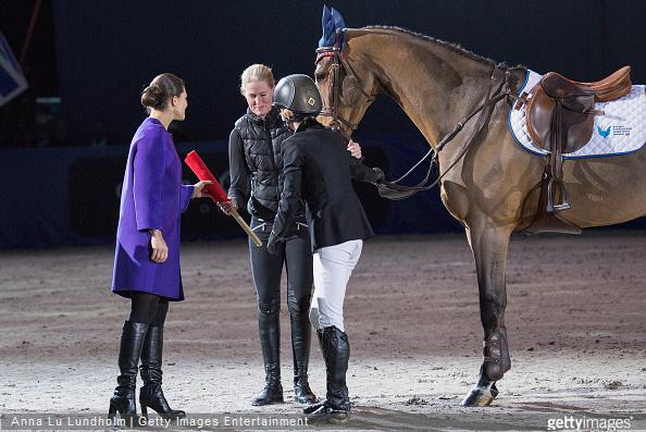Crown Princess Victoria of Sweden attends Sweden International Horse Show