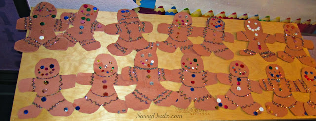 Gingerbread man christmas craft idea for kids crafty morning