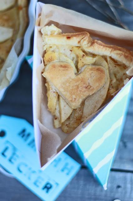 pie cake box, tarte aux pommes, kuchen verschenken
