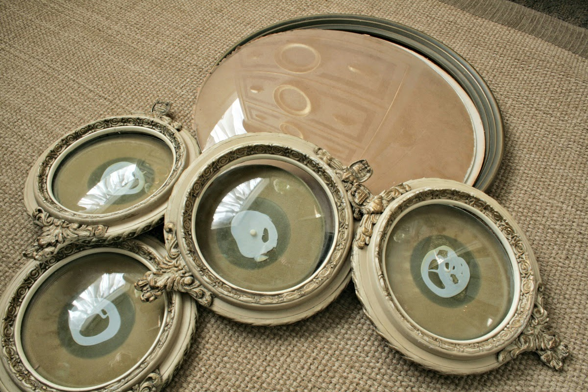 antique convex picture frames, round picture frame