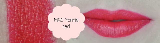 mac ronnie red lipstick swatch
