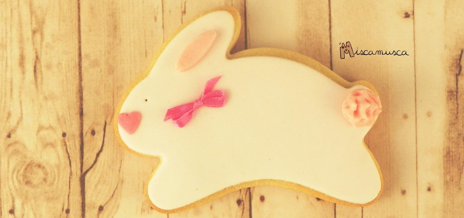 Galleta fondant conejo de Pascua
