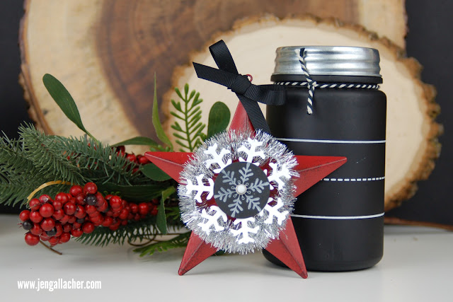 Stamped #target star ornament by Jen Gallacher. #stamping
